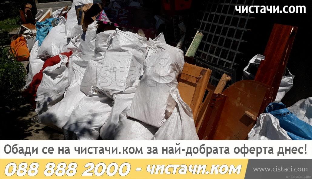 Извозване на боклук с камиони в страната