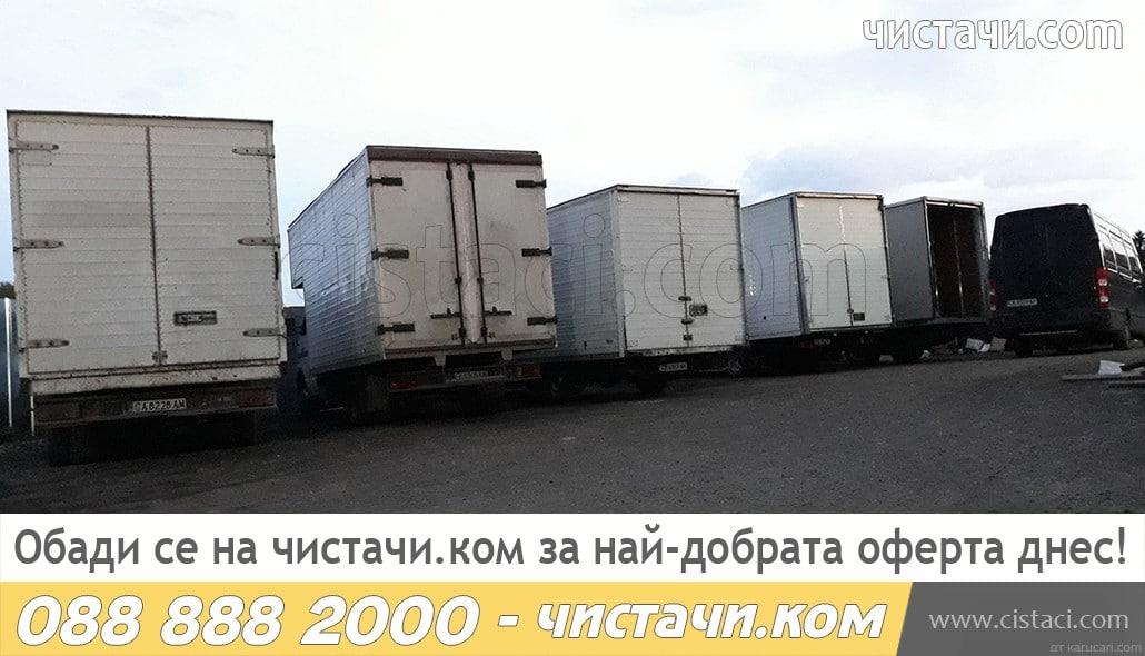 Извозване на дървесина с камиони за отпадъци
